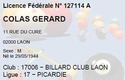 Gérard COLAS