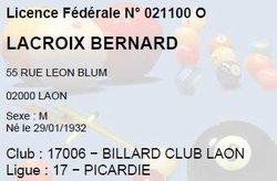 Bernard LACROIX