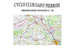 Programme des sorties cyclo du 25/07 au 30/07/2017