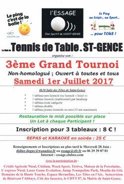 3eme grand Tournoi de Saint Gence le Samedi 1er Juillet