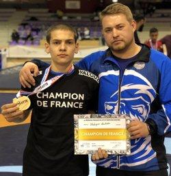 Mouhadine Khabizaev Champion de France  lutte libre 2018