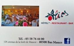 """Un nouveau partenaire  Bienvenue à l' """"Alios"""" Hotel-Restaurant"""