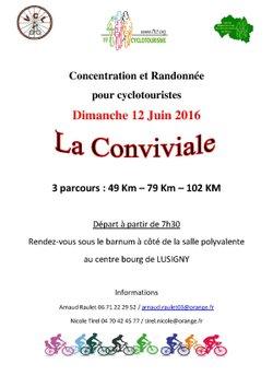 12 JUIN 2016 - PLACE A NOTRE CONCENTRATION-RANDONNEE