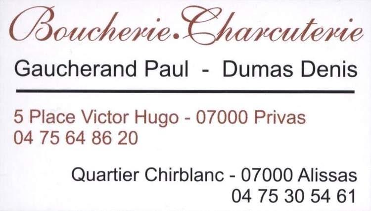 Boucherie Charcuterie Gaucherand - Dumas
