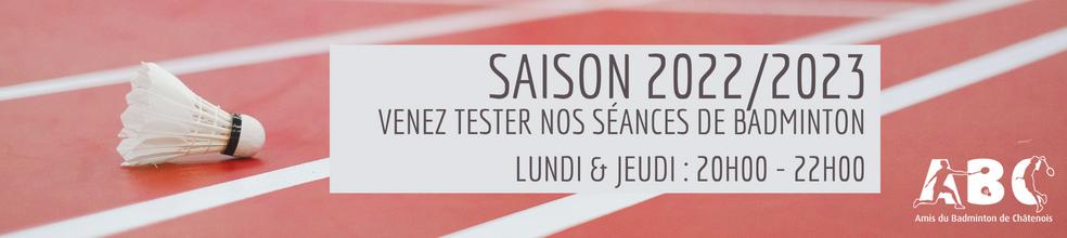Amis du Badminton Châtenois : site officiel du club de badminton de CHATENOIS - clubeo