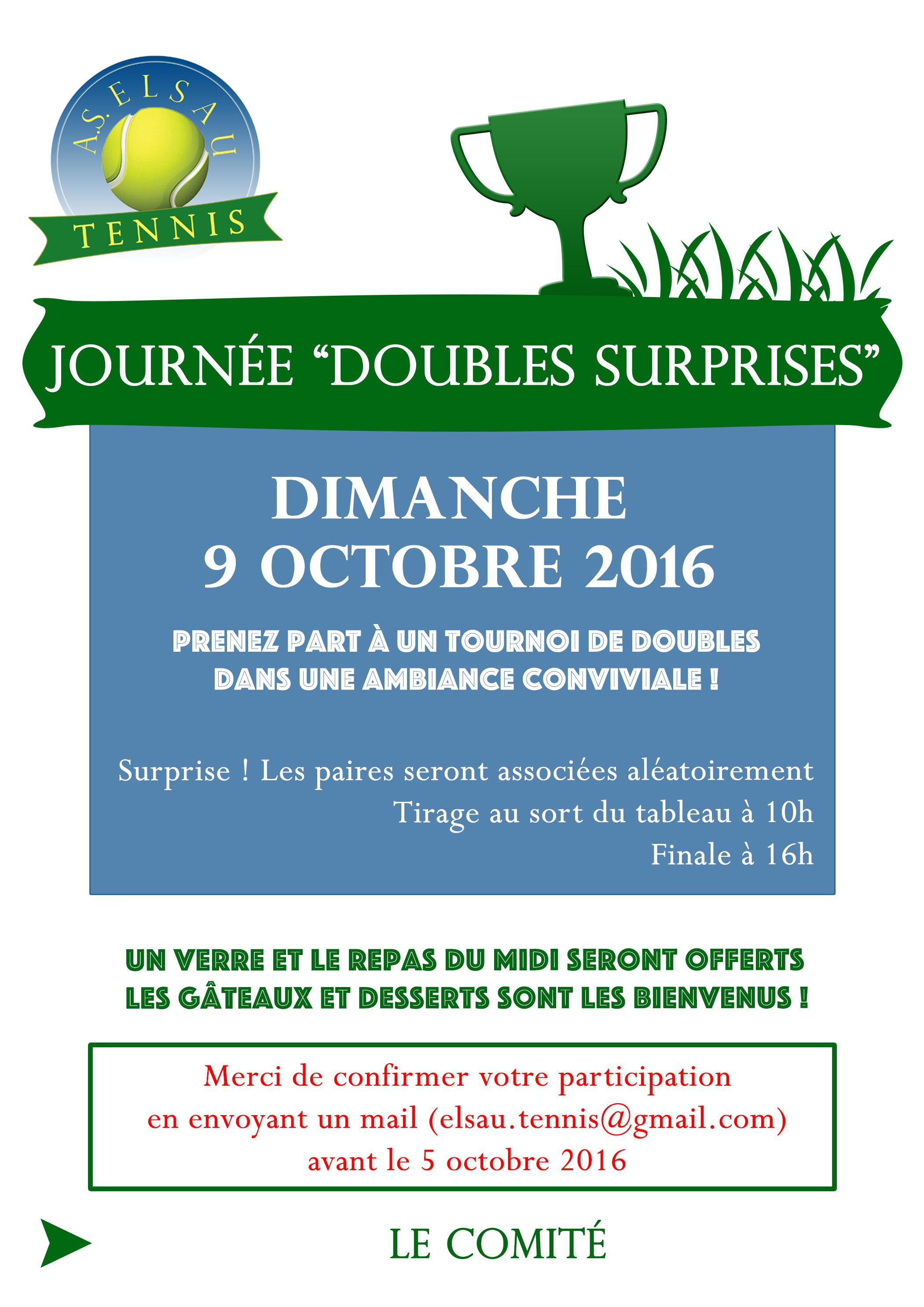 Doubles Surprises 9 octobre 2016