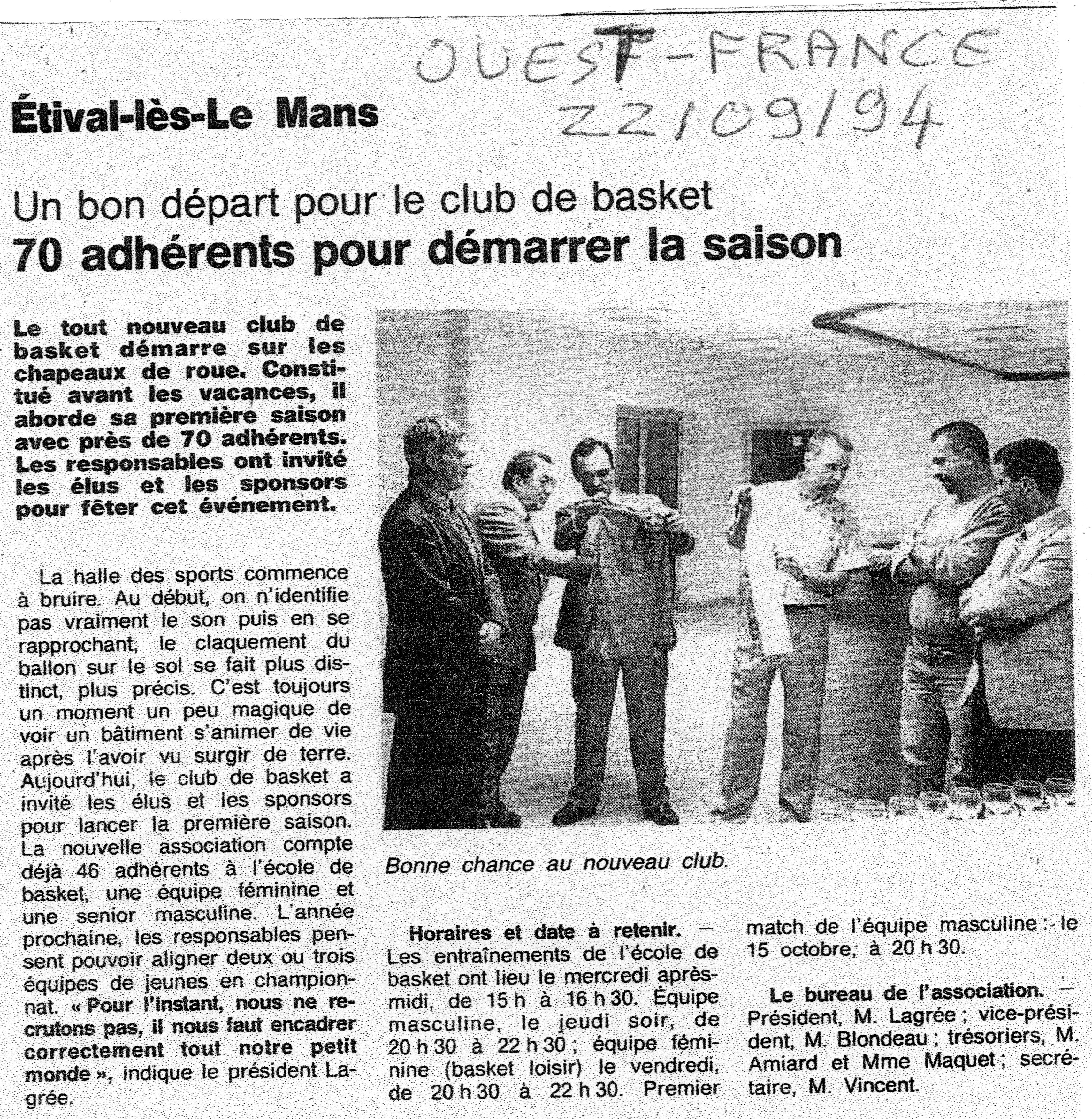 Ouest France 22/09/1994