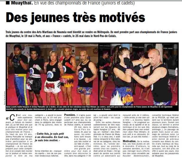 article championnat de france 06052013