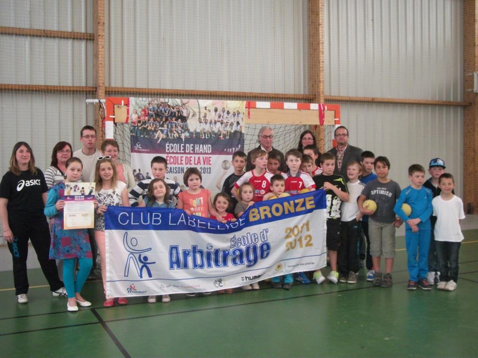Remise Label Ecole Arbitrage Avril 2013
