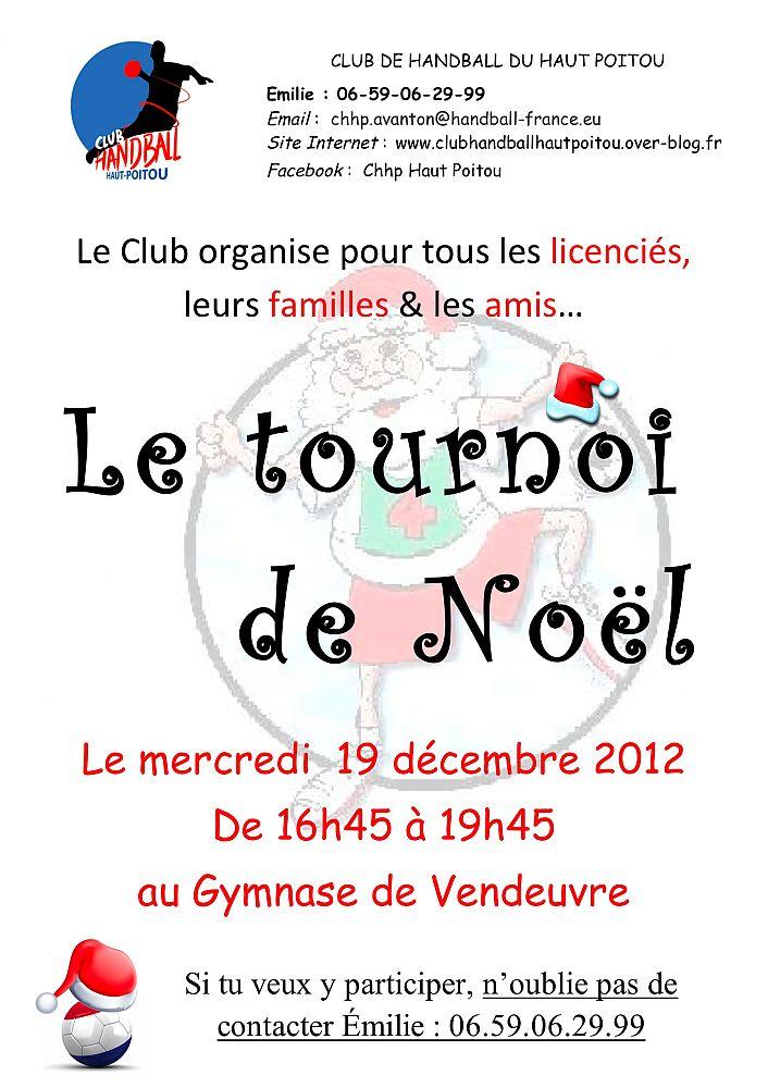 Affiche tournoi Noël 2012