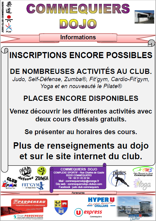 Inscriptions encore possible