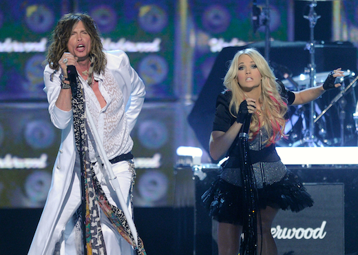 Carrie Underwood and Steven Tyler