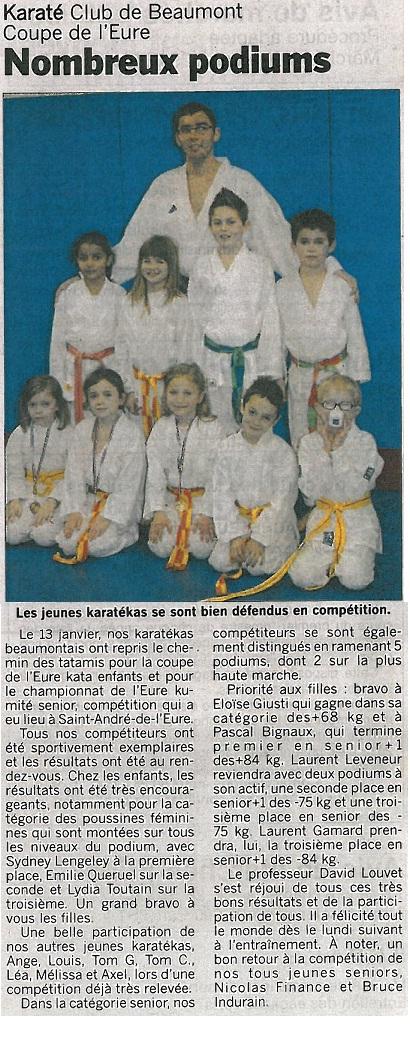Article paru dans l'Eveil Normand du 30/01/13