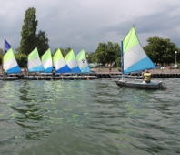 Optimists de l'Ecole de Voile de Strasbourg
