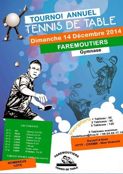 Affiche affiche comp tition de tennis de table - Tournoi tennis de table ile de france ...
