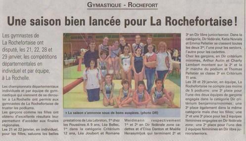 Une saison bien lancée pour La Rochefortaise !