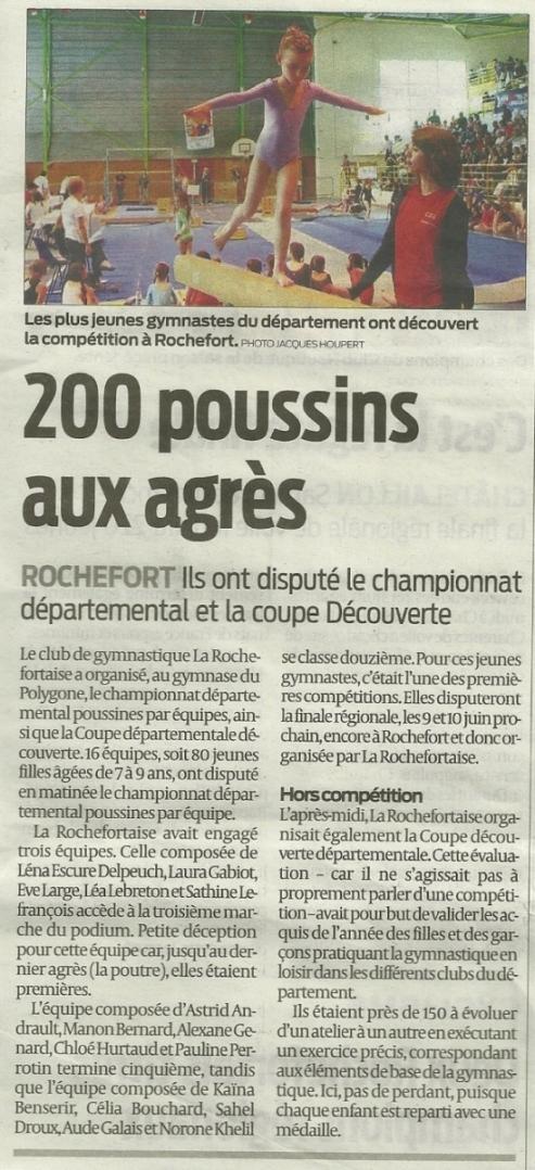 200 poussins aux agrès