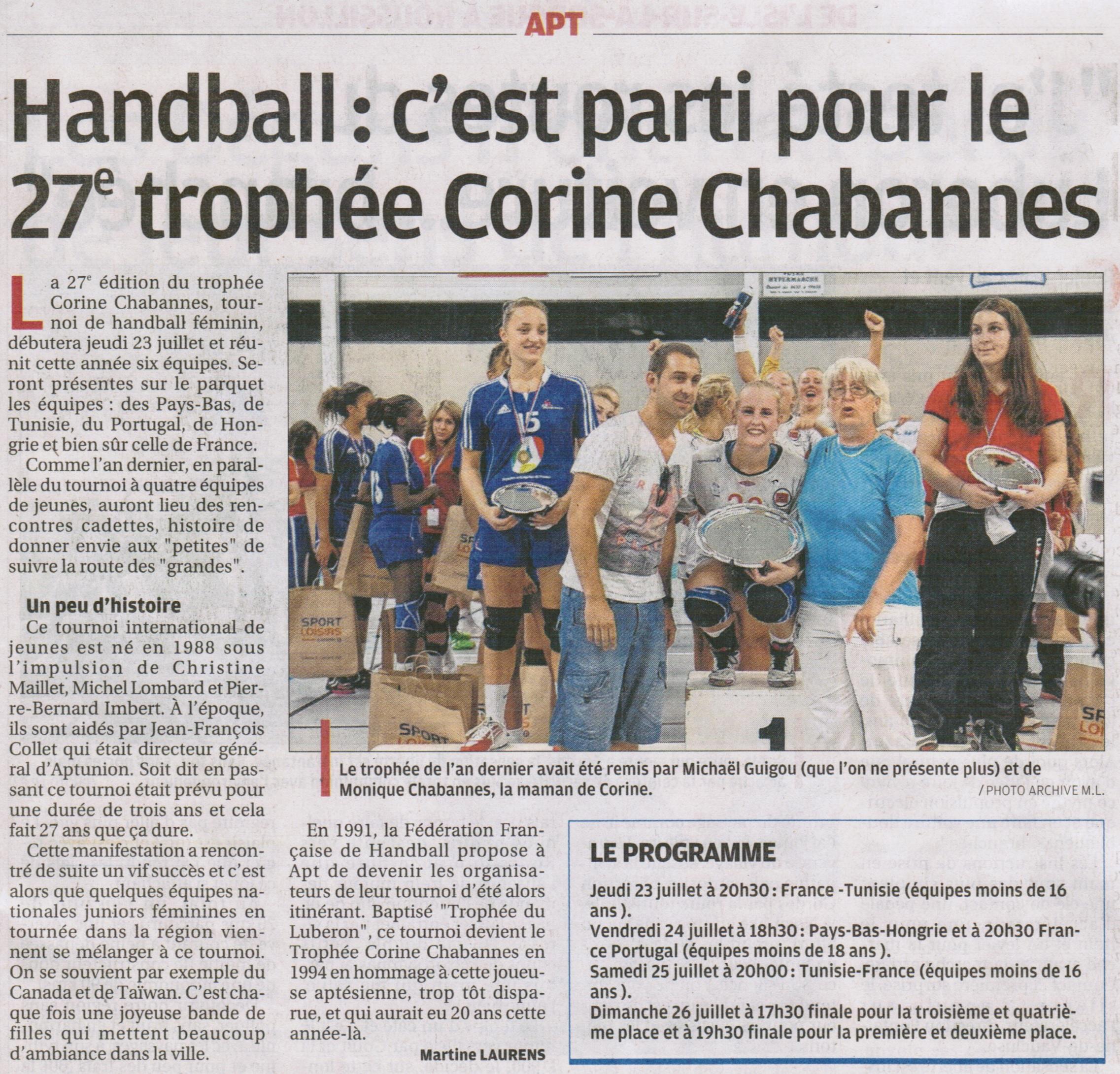 2015-07-22 La Provence (trophée Corine Chabannes 2015)