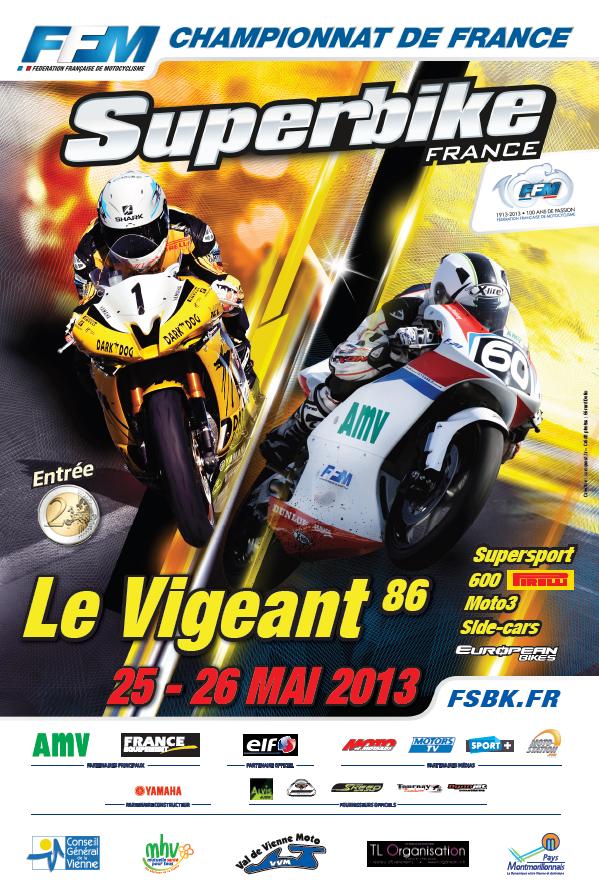 Championnat de France SBK 2013 au Vigeant