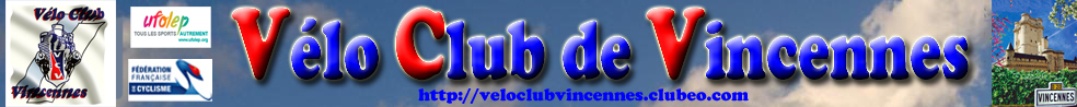 Site Internet officiel du club de cyclisme Vélo Club de Vincennes