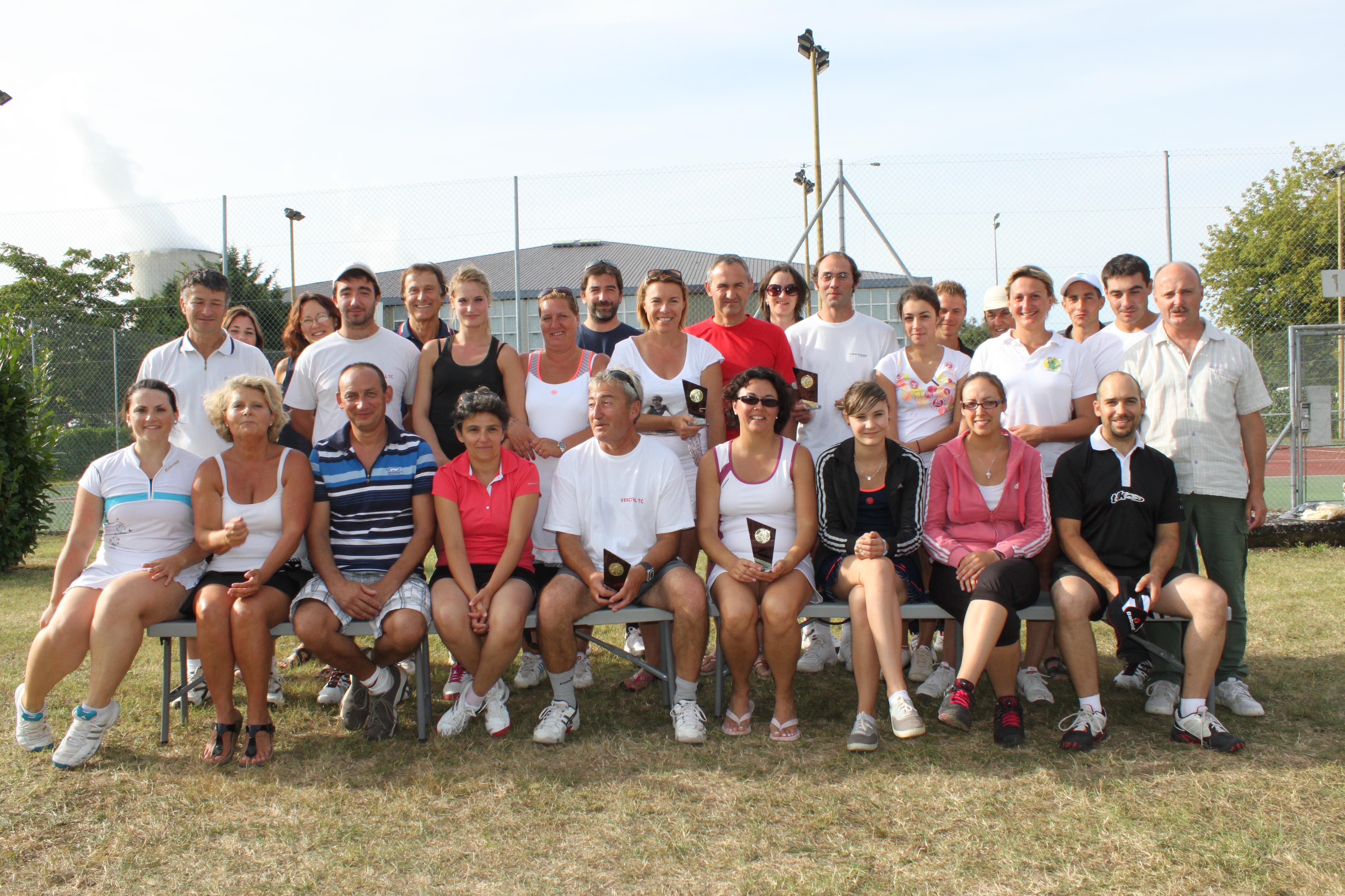 Participants au tournoi double mixte