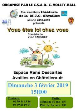 Théatre avec la MJC d'Availles en Châtellerault