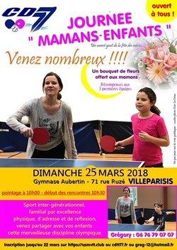 Pour la première fois villeparisis organise le journée MAMAN ENFANTS