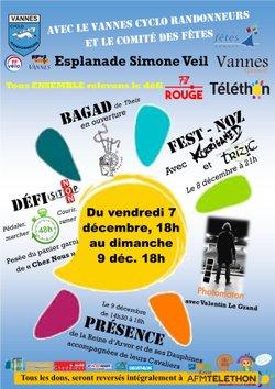 Programme complet du village Téléthon à Vannes, les 7-8-9 décembre 2018