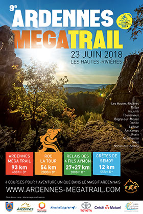 Affiche de l'Ardennes Méga Trail 2018