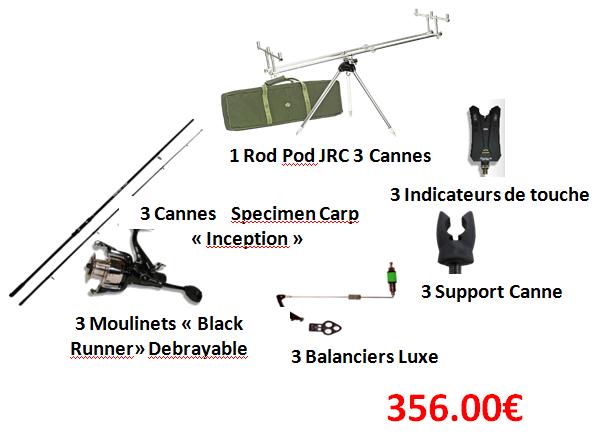 Pack Promo Carpe Alevyn peche et loisirs Châtellerault Vienne