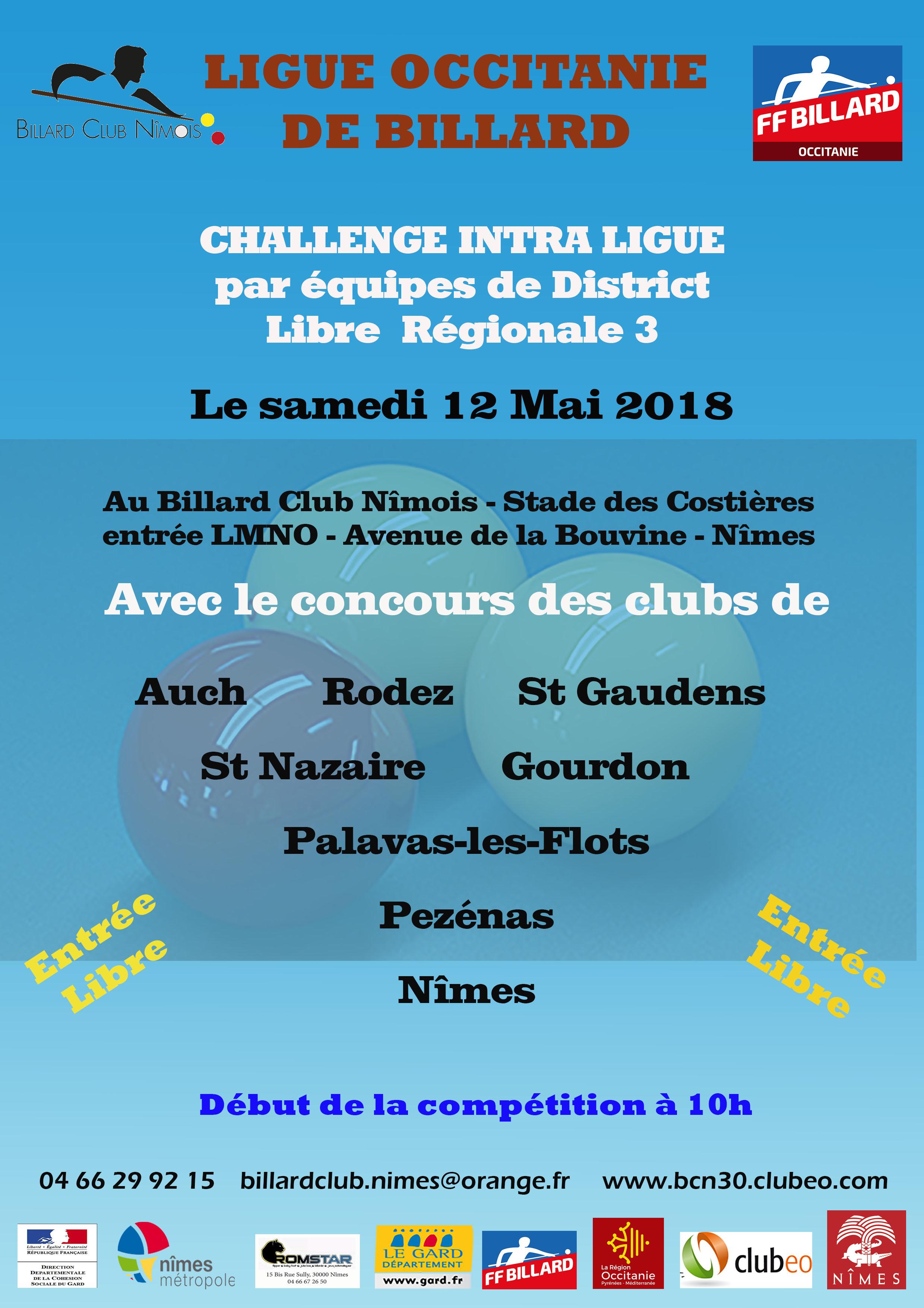 Challenge Intra Ligue par équipes - Libre R3