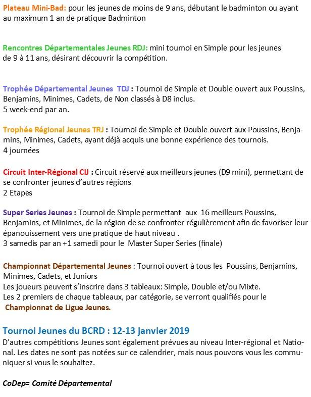 Calendrier Definition.Calendrier Club Badminton Badminton Club De La Region