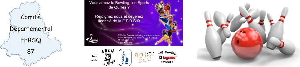 CD FFBSQ 87 Bowling : site officiel du club de bowling de Limoges - clubeo