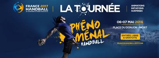 La caravane du handball du Mondial 2017 à Niort le 6 et 7 mai 2016