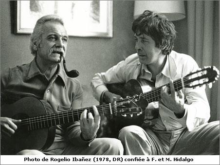 Paco Ibaniez et Georges Brassens