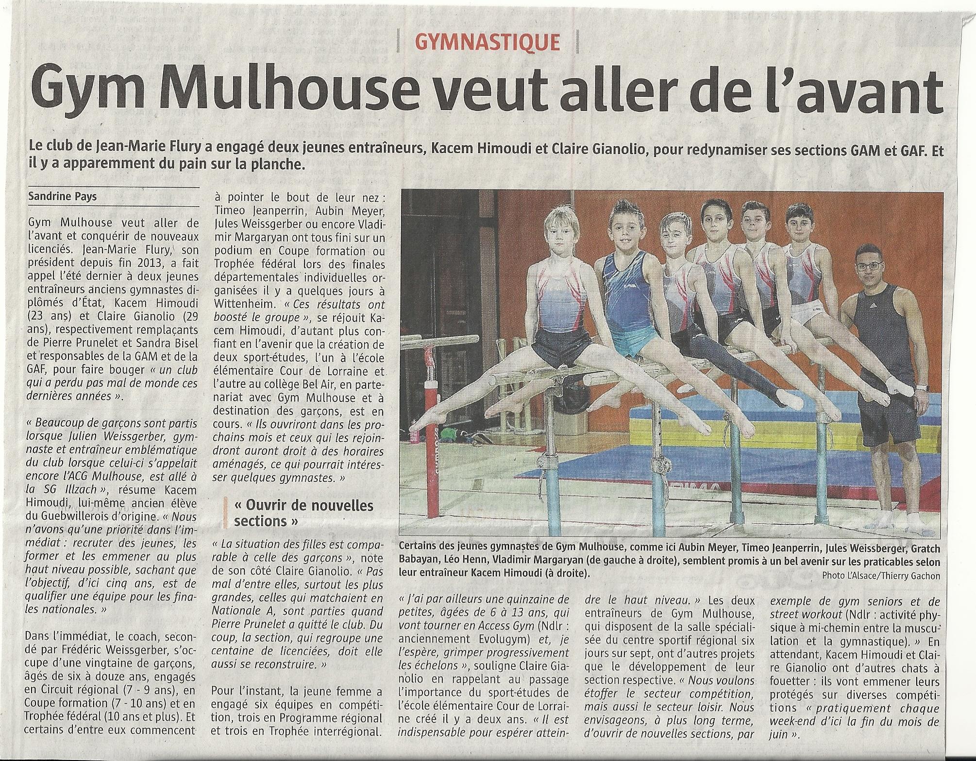 Article paru dans l'Alsace du 24.01.2017