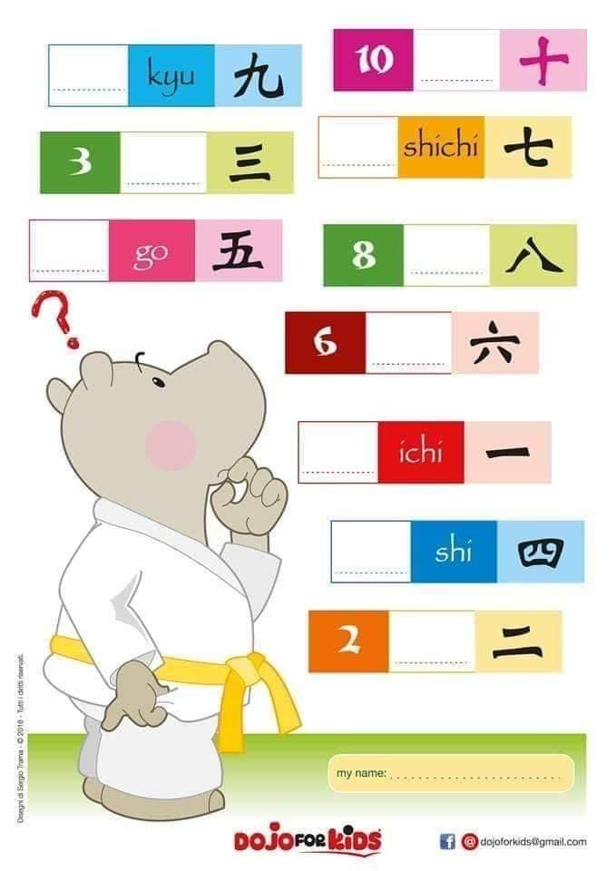 Apprendre à compter en japonais exercices