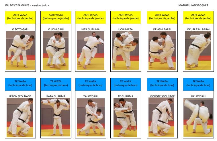 Jeu 7 familles judo