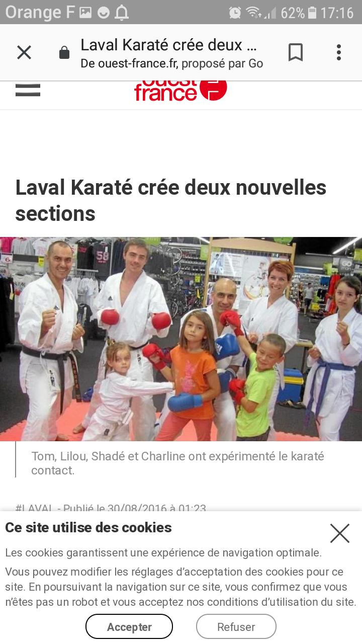 Laval karaté contact