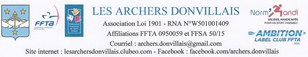 Les Archers Donvillais : site officiel du club de tir à l'arc de Granville - clubeo
