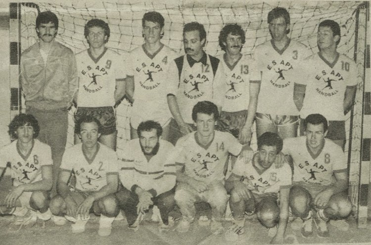 Seniors Garçons Apt Handball 1985