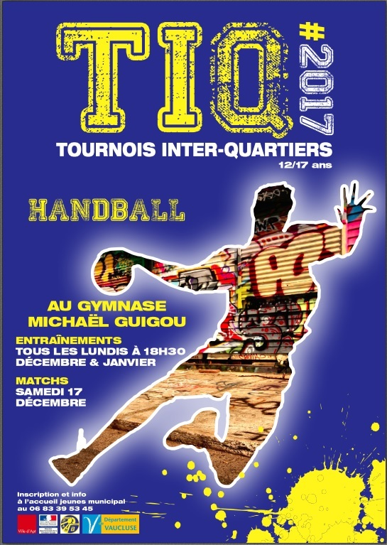 Affiche Tournois Handball Inter-Quartiers