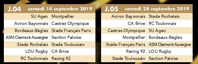 Calendrier 2020 Top 14.Actualite Saison 2019 2020 Le Calendrier Du Top