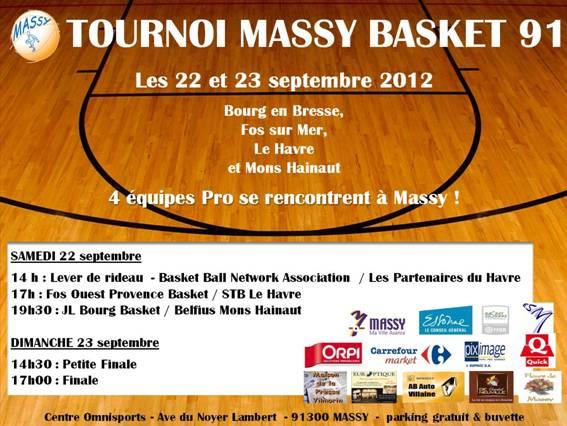 TOURNOI DE MASSY LES 22 ET 23 SEPTEMBRE