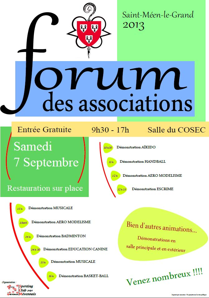 Affiche Forum des associations