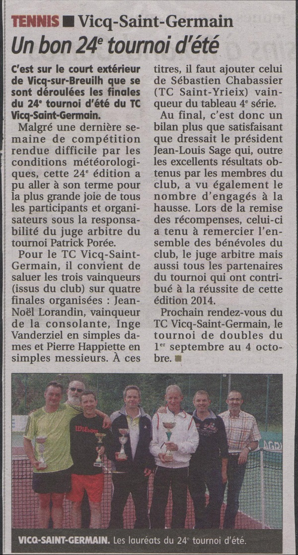 tournoi open 2014