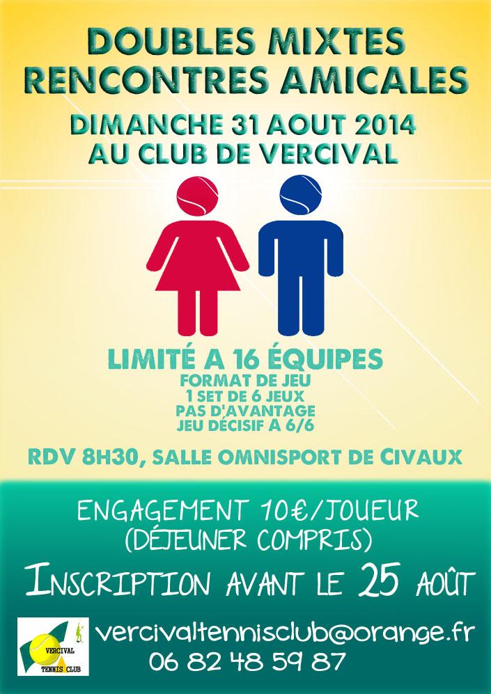Tournoi Double Mixtes 2014